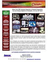 Chemplex Industries XRF Consumables Catalogue - Specac