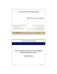 ERP Life Cycle Concepts - Department of Computer Information ...