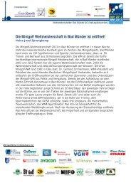 Pressemeldung zur Eröffnungsfeier (pdf) - Minigolf in Bad Münder