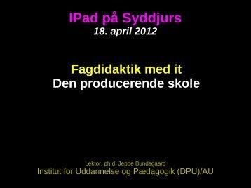 IPad på Syddjurs - Jeppe Bundsgaard - bundsgaard.net