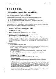 TEXTTEIL - örtliche Bauvorschriften nach LBO - Rutesheim