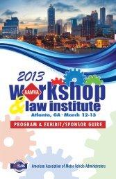 Download the full program - American Association of Motor Vehicle ...