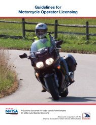 Strategies for Motorcycle Operator Licensing Systems - NHTSA