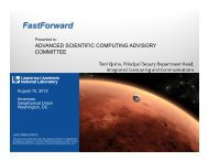 FastForward (presented to the Advanced ... - ASC at Livermore