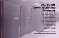 ASC Purple Decommissioning Ceremony Program - ASC at Livermore