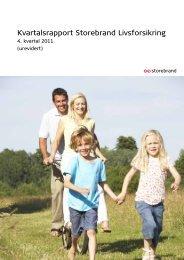 Kvartalsrapport for Storebrands Livsforsikring 4. kvartal 2011