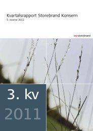 Storebrand kvartalsrapport 3kv 2011
