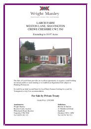 Planning Details of Larch Farm - Wright Manley