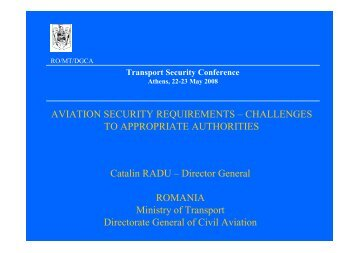 AVIATION SECURITY REQUIREMENTS – CHALLENGES TO ...