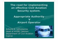 The road for implementing an effective Civil Aviation Security system ...