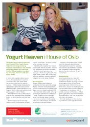 Yogurt Heaveni House of Oslo - Storebrand