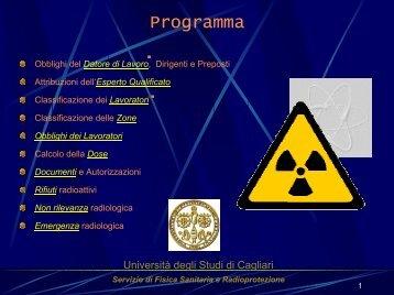 Programma - Dipartimento di Fisica - Università degli studi di Cagliari.