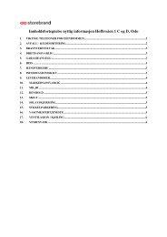 Innholdsfortegnelse nyttig informasjon Hoffsveien 1 C ... - Storebrand