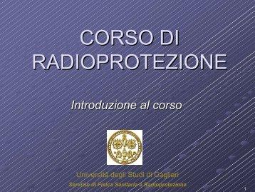 Introduzione al corso - Dipartimento di Fisica - Università degli studi ...
