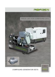 COMPOUND GENERATOR SETS PRICE LIST FOR ... - Abamotor