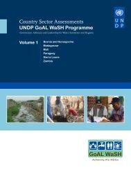 UNDP GoAL WaSH Programme - WaterWiki.net