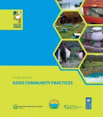 GOOD COMMUNITY PRACTICES - WaterWiki.net