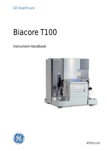 biacore t100 start up shut down protocol simplified rh yumpu com Biacore Binding GE Biacore