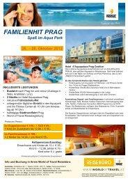 FAMILIENHIT PRAG Spaß im Aqua Park 26. – 28 ... - World of Travel