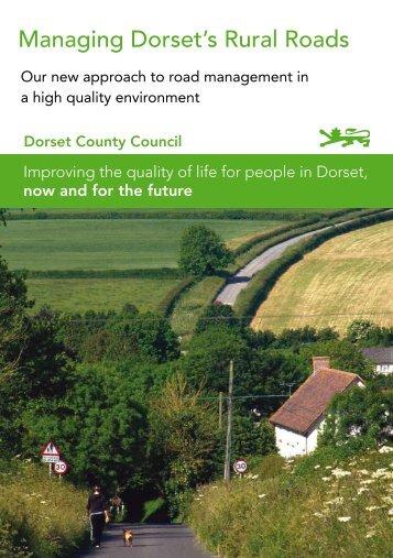 Managing Dorset's Rural Roads - Dorsetforyou.com