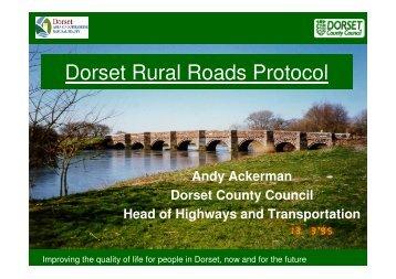 Rural Roads presentation PART1 3.02 Mb - the Dorset AONB