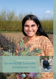 Sustainable Development Fund 961.44 Kb - the Dorset AONB