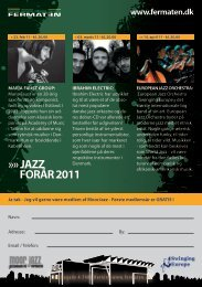JAZZ FORÅR 2011 www.fermaten.dk - dsi swinging europe