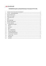 Innholdsfortegnelse nyttig informasjon Akersgata 35-39 ... - Storebrand