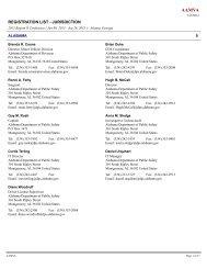 Registration List (pdf) - American Association of Motor Vehicle ...