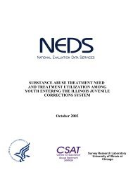 Substance Abuse Treatment Need and Treatment Utilization Among ...