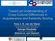 Toward an Understanding of Cross-Cultural Differences in ...