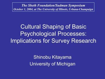 Culture and Self - Survey Research Laboratory