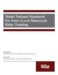 Model National Standards For Entry-Level Motorcycle ... - NHTSA