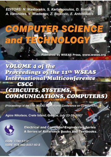 COMPUTER SCIENCE and TECHNOLOGY Proceedings ... - WSEAS
