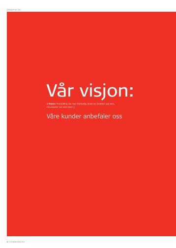 Visjon og verdier - Storebrand