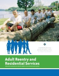Adult Reentry and Residential Services - Community Solutions Inc.