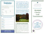 6th Annual Charity Golf Tournament - Community Solutions Inc.