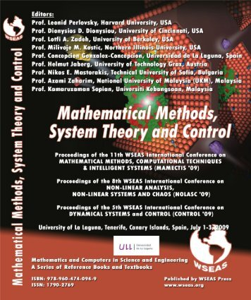 Mathematical Methods, System Theory and Control ... - Wseas.us
