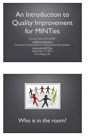 An Introduction to Quality Improvement for MINTies - Motivational ...