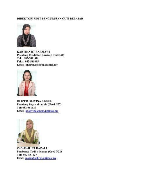 Direktori Staf Pejabat Pendaftar