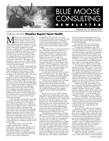 BMC Newsletter, Vol. 8, Issue 2 - Feburary 2011 - Blue Moose ...
