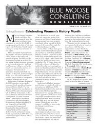 BMC Newsletter, Vol. 9, Issue 3 - March 2012 - Blue Moose Consulting