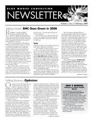 BMC Newsletter, Vol. 5, Issue 2 - February, 2008 - Blue Moose ...