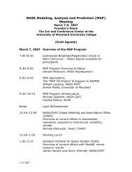 (MAP) Meeting - Modeling, Analysis, and Prediction Program - NASA