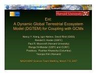Ent: A Dynamic Global Terrestrial Ecosystem Model - Modeling ...