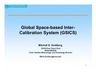 Global Space-based Inter- Calibration System - Modeling, Analysis ...