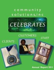 CELEBRATES - Community Solutions Inc.