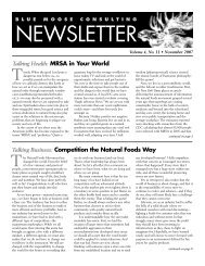 BMC Newsletter, Vol. 4, Issue 11 - November 2007 - Blue Moose ...