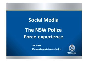 Tim Archer_NSW Police Force_Frocomm ENGAGE ... - The PR Report