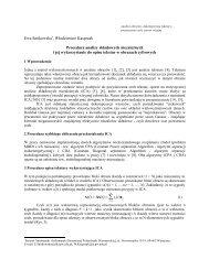 Procedura analizy składowych niezależnych i jej wykorzystanie do ...